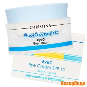 FluorOxygen+C EyeC Eye Cream SPF 15 CHRISTINA, Крем для кожи вокруг глаз SPF 15 КРИСТИНА FluorOxygen+C